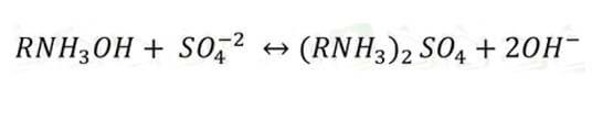 واکنش تبادل یونی رزین آنیونی ضعیف